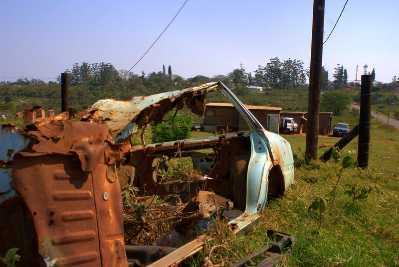 rotted out car