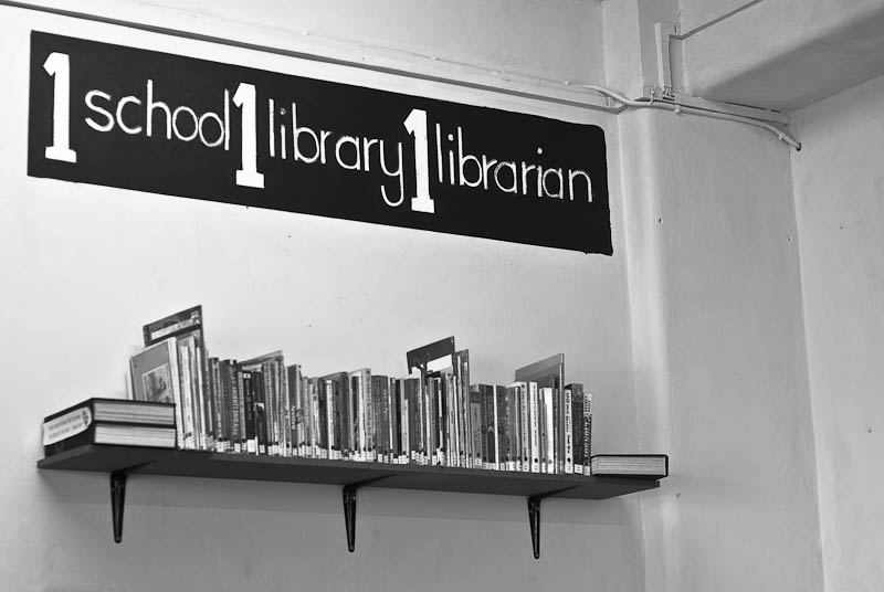 1 school 1 library 1 librarian