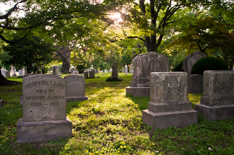 backlit graves