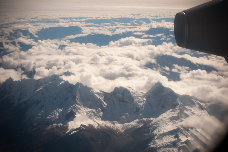 andes out the plane window