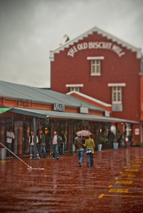 rainy day at the old biscuit mill